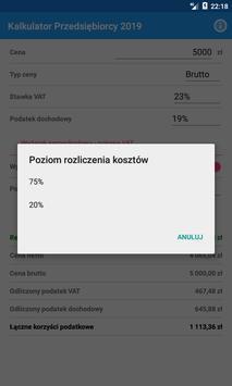 Kalkulator Przedsiębiorcy 2019 screenshot 5