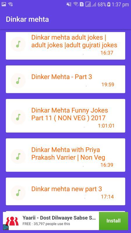 Dinkar mehta new jokes free download.