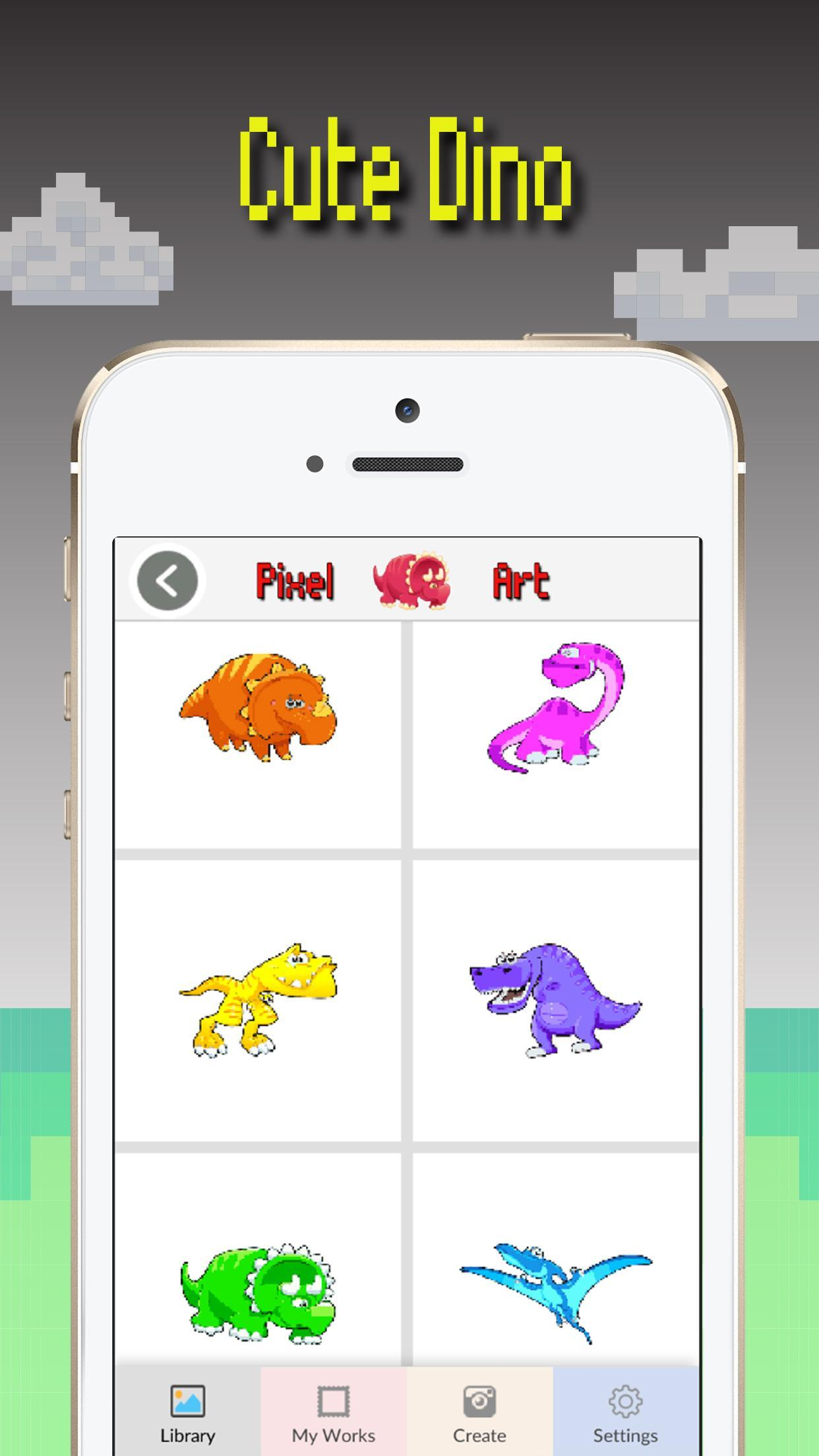Android Icin Dinozor Renk Piksel Sanat Dino Boyama Oyunu Apk Yi