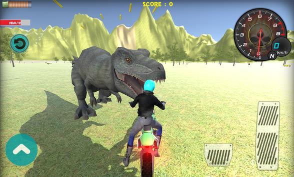 tyrannosaurus rex sim racing poster