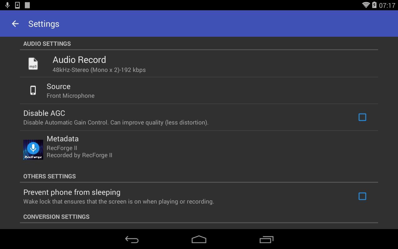 RecForge II cho Android - Tải về APK