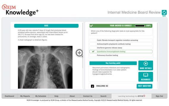 NEJM Knowledge+ IM Review imagem de tela 12