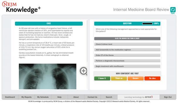 NEJM Knowledge+ IM Review imagem de tela 7