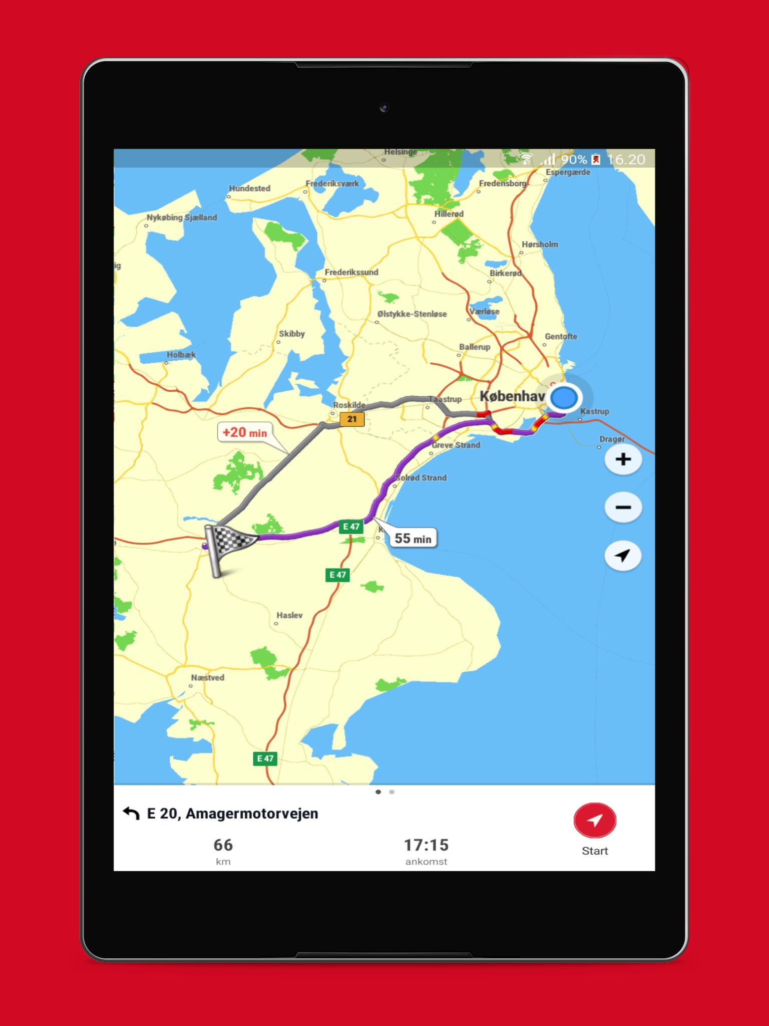 Krak Navigation Offline Gps Kort Trafik For Android Apk