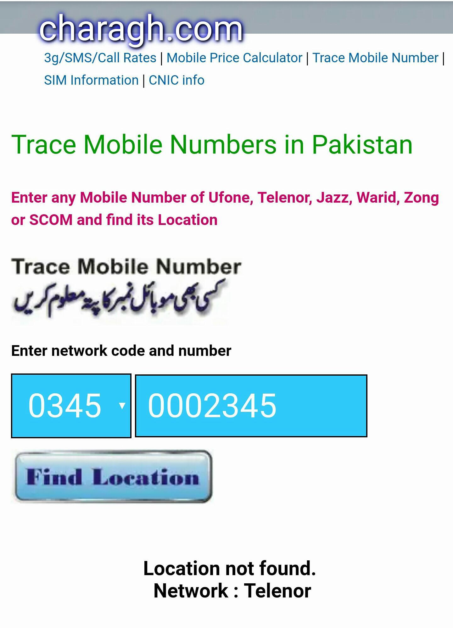 Pakistan Mobile Networks Numbers