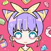 귀여운 소녀 아바타 메이커 - 귀여운 여자들의 볼을 꼬집은 게임 아이콘