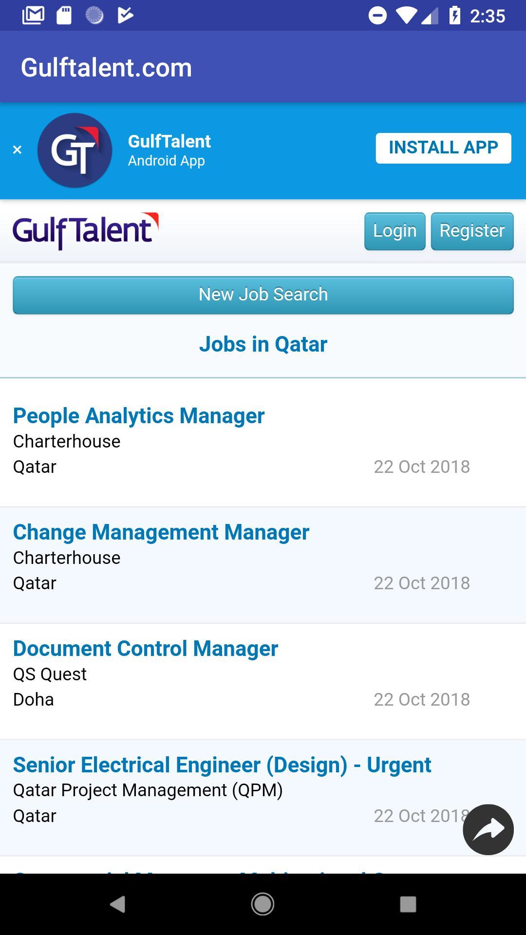 Jobs in Qatar poster
