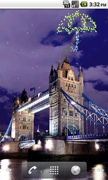 Tower Bridge Fireworks Wallpaper HD poster