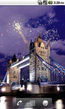 Tower Bridge Fireworks Wallpaper HD screenshot 1