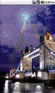 Tower Bridge Fireworks Wallpaper HD screenshot 2
