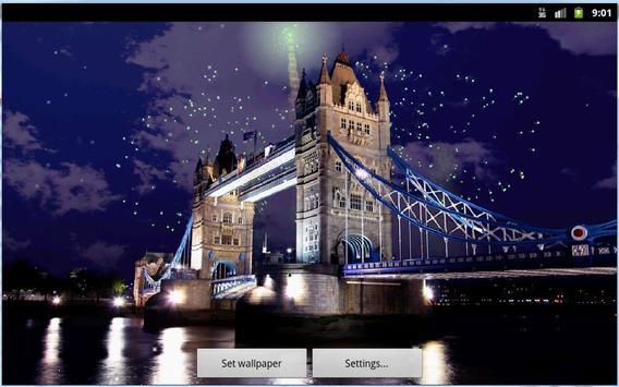 Tower Bridge Fireworks Wallpaper HD screenshot 5