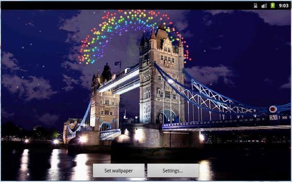 Tower Bridge Fireworks Wallpaper HD screenshot 8