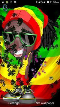 Weed Rasta Smoke Wallpapers & Backgrounds スクリーンショット 3
