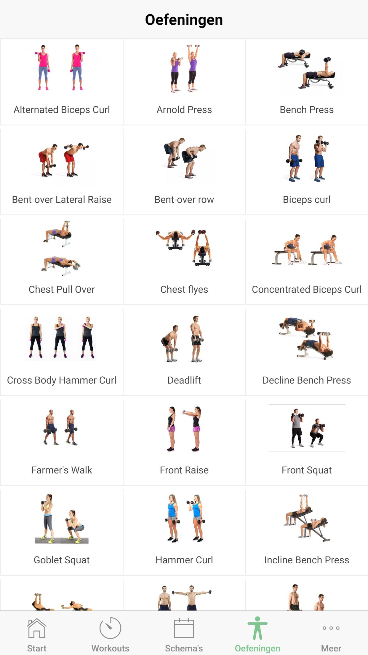 Onwijs Dumbell Oefeningen - Fitness Schema for Android - APK Download PK-38