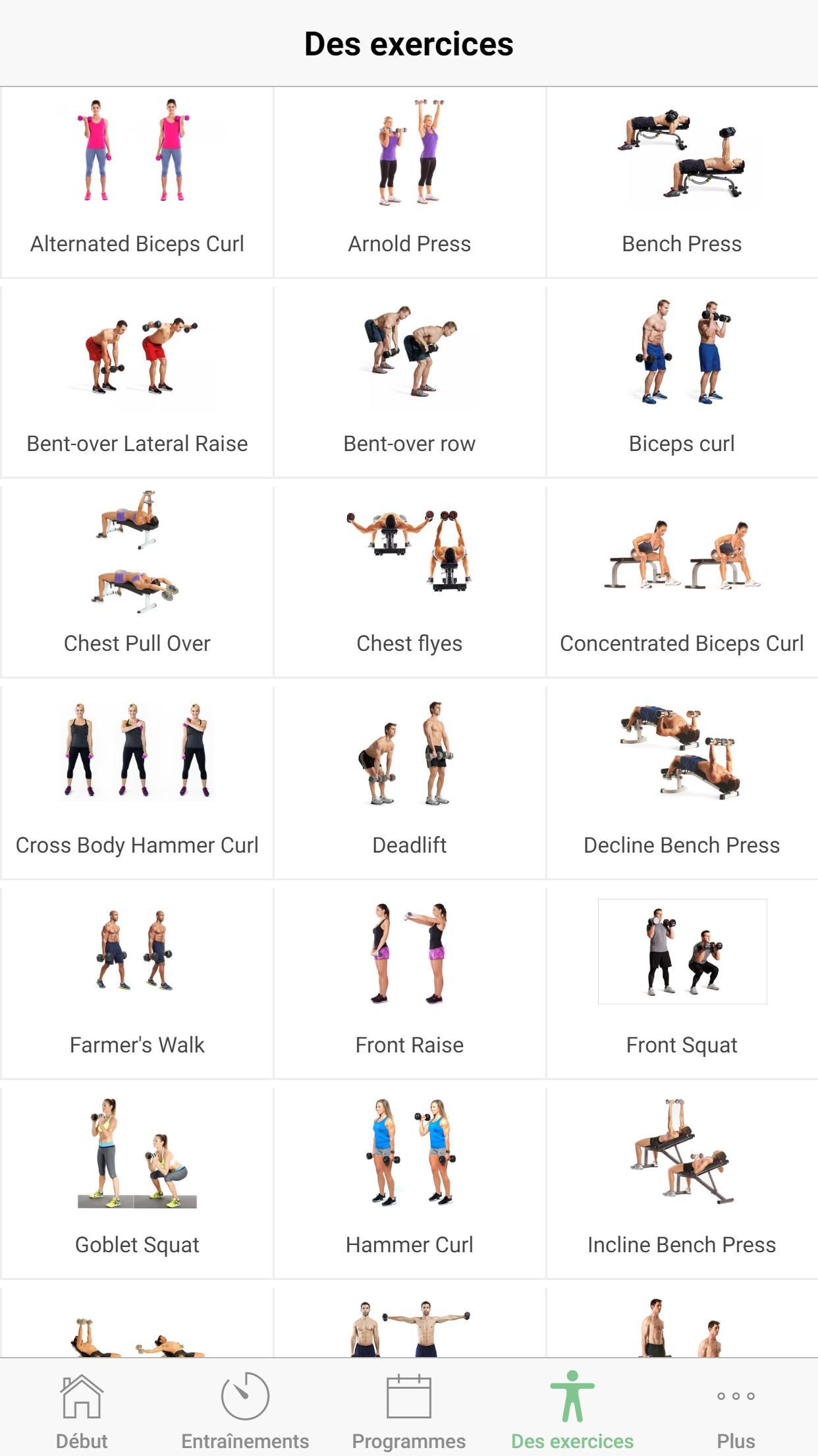 Exercices avec haltères : Programme de musculation pour ...