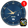 Free Analog Watch Face Theme for Bubble Cloud