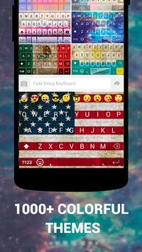 Emoji Keyboard Cute Emoticons - Theme, GIF, Emoji скриншот 2