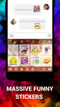 Emoji Keyboard Cute Emoticons - Theme, GIF, Emoji скриншот 3