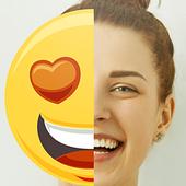 Emoji remove from photo prank icon