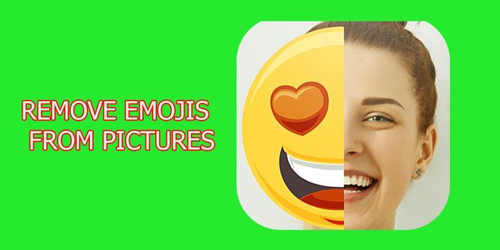 Emoji remove from photo prank poster