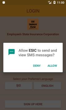 ESIC Employer App screenshot 1