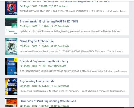 Engineering Books poster