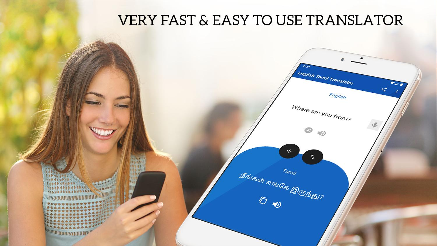 English Tamil Translator - Voice & Text Translator for