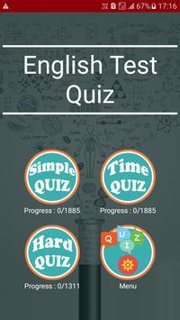 English Test Quiz poster