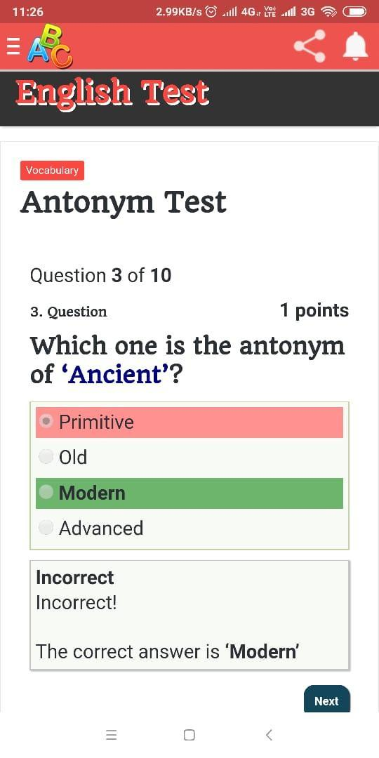 English Grammar test and quiz for Android - APK Download