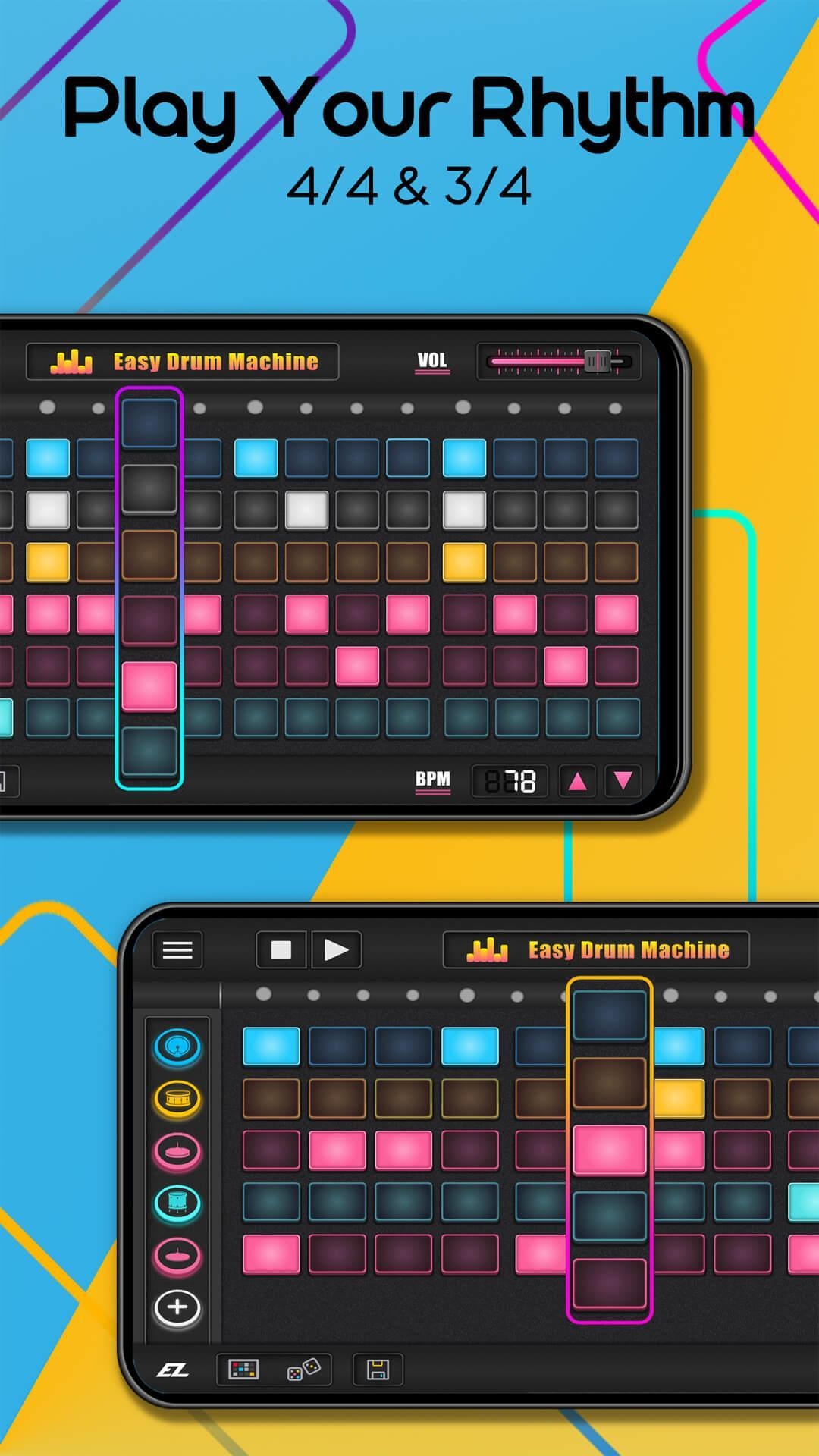easy drum machine beat machine drum maker for android apk download. Black Bedroom Furniture Sets. Home Design Ideas