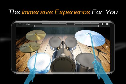 Easy Real Drums-Real Rock and jazz Drum music game imagem de tela 2