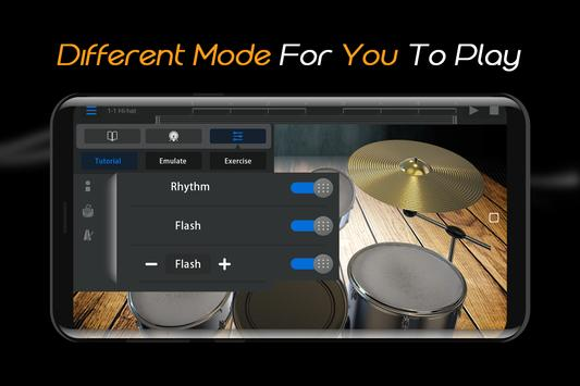 Easy Real Drums-Real Rock and jazz Drum music game imagem de tela 4