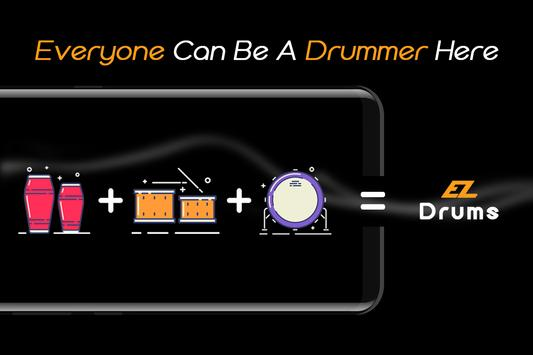 Easy Real Drums-Real Rock and jazz Drum music game imagem de tela 7