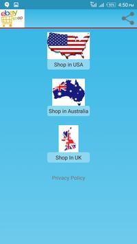 eBay Shopping for USA,  UK & Australia poster
