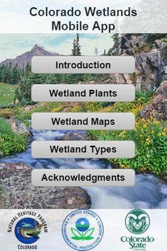 Colorado Wetlands Mobile App poster
