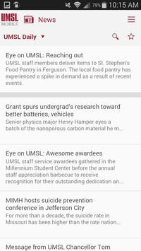 UMSL Mobile 3.0 screenshot 2