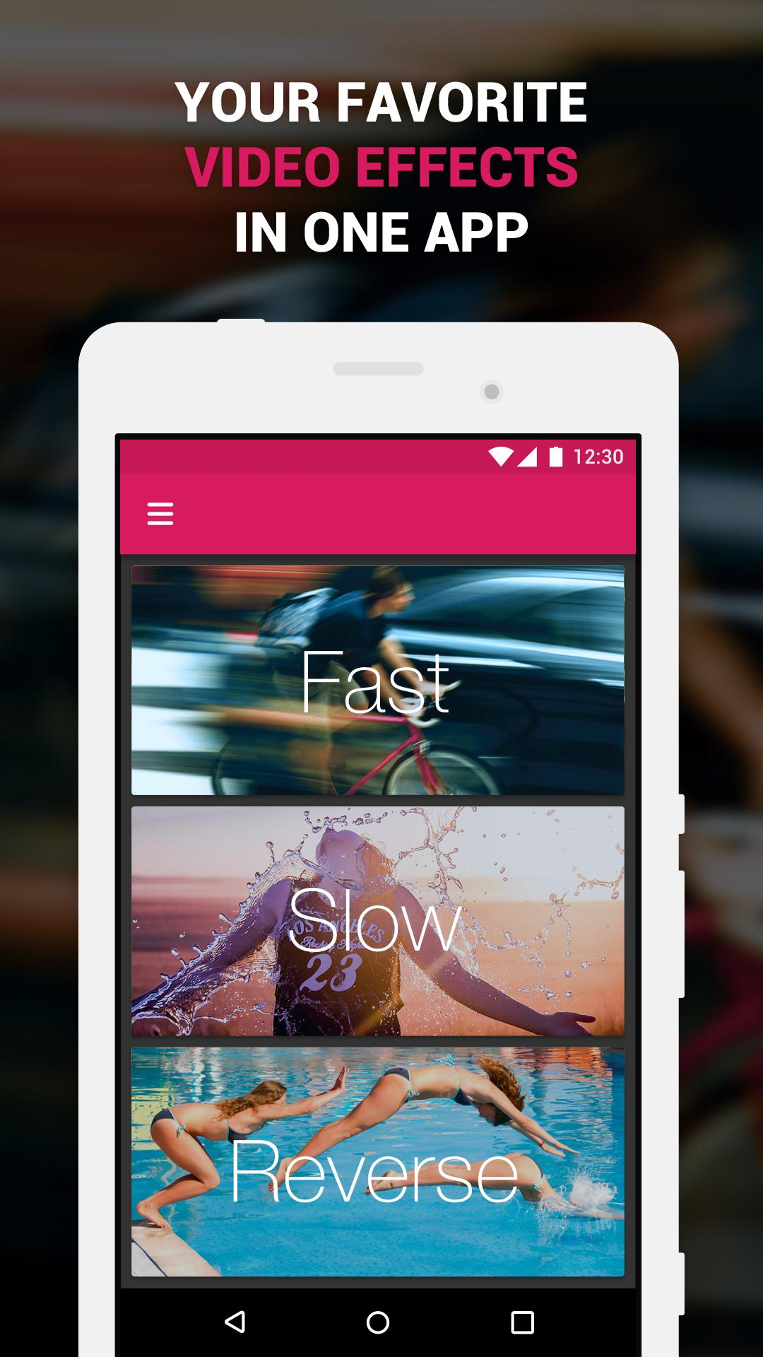Apk gratis untuk android 🔥Efectum – Slow Motion, Reverse Cam, Fast Video