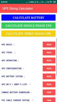 UPS Inverter Battery Backup Time Calculator PRO ++ for