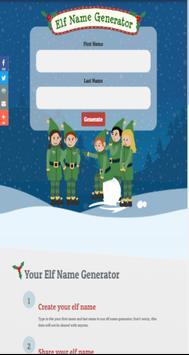 Christmas Elf Name Generator poster