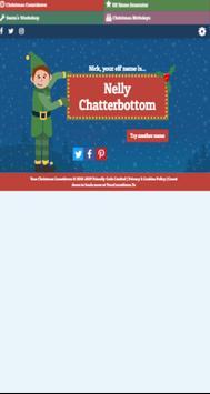 Christmas Elf Name Generator screenshot 1
