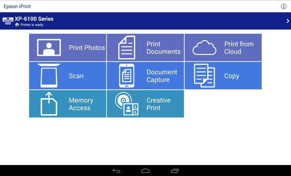 5 Schermata Epson iPrint