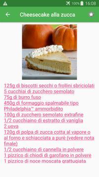 Dolci alla zucca ricette di cucina gratis. screenshot 1