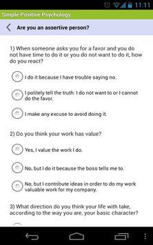 Simple Positive Psychology capture d'écran 4