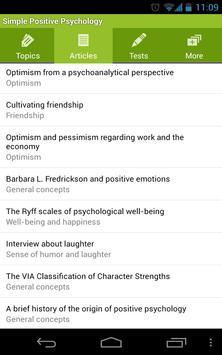 Simple Positive Psychology capture d'écran 1