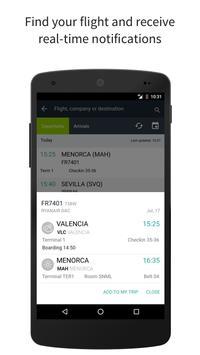 Aena. Spanish Airports. Flight info screenshot 1