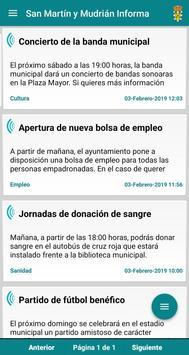 San Martín y Mudrián Informa poster