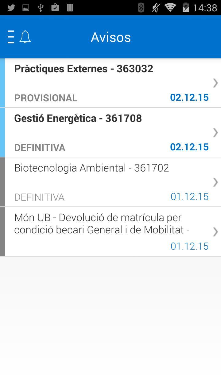 UB Avisos de qualificacions for Android - APK Download