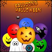 Halloween: Balloons kids free icon