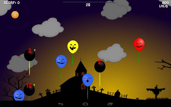 Halloween: Balloons kids free screenshot 4