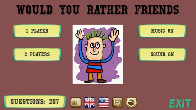 Would you rather friends poster